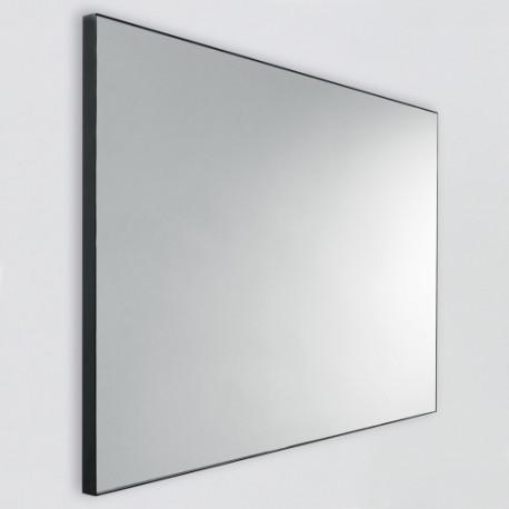 Miroir rectangulaire cadre noir pour salle de bain