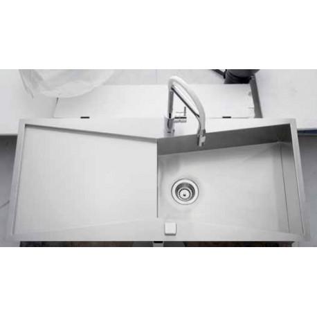 luisina evier 1 grande cuve 1160x500 inox lisse. Black Bedroom Furniture Sets. Home Design Ideas