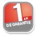 Garantie 1 ans Franke